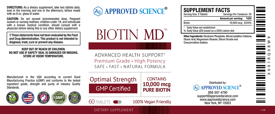 Biotin MD Supplement Facts