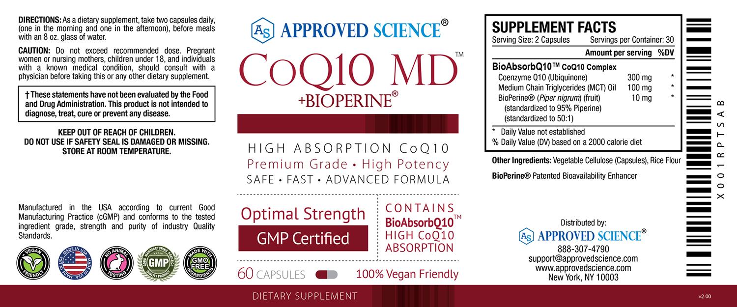 COQ10 MD™ Supplement Facts