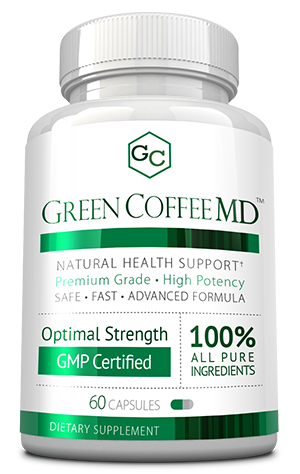 Green Coffee MD<sup>™</sup> ingredients bottle