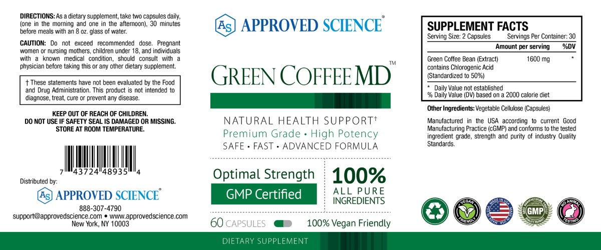 Green Coffee MD<sup>™</sup> Supplement Facts
