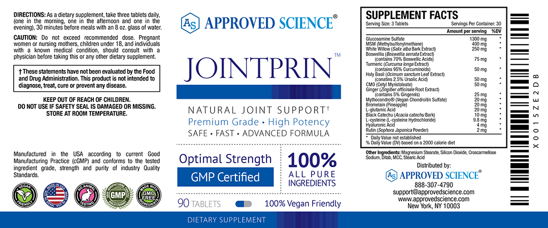 Jointprin Supplement Facts