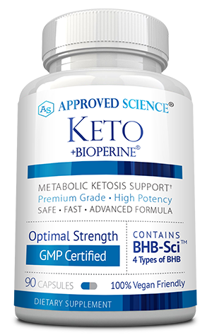 Approved Science® Keto ingredients bottle