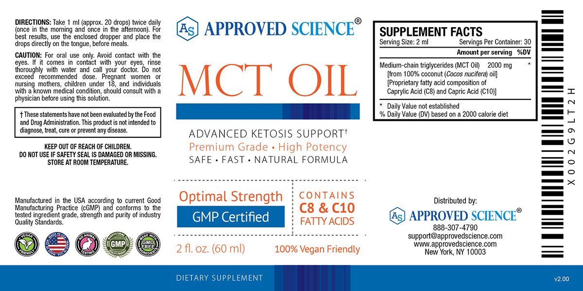 Approved Science® Keto Supplement Facts