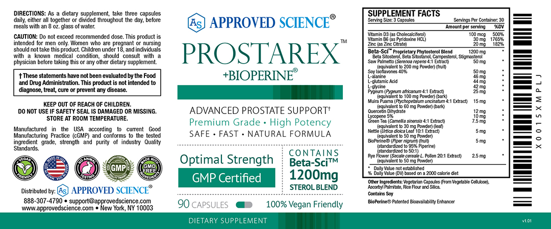 Prostarex<sup>™</sup> Supplement Facts
