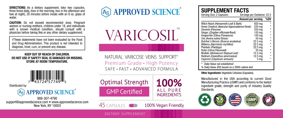 Varicosil™ Supplement Facts